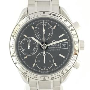 OMEGA Omega Speedmaster Date Watch Men Automatic Stainless Steel SS 3513.50