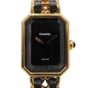 CHANEL Premiere S Watch Wrist Ladies Quartz GP Leather