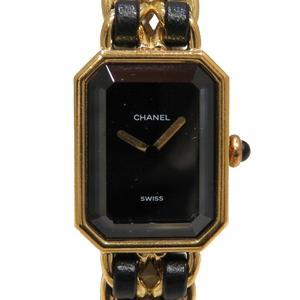 CHANEL Chanel Premier M Watch Wrist Ladies Quartz GP Leather