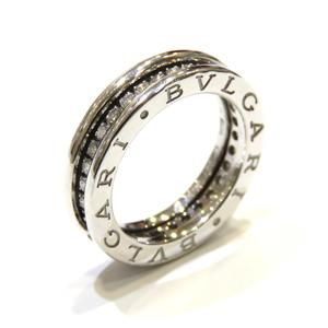 BVLGARI Bvlgari B-zero1 Ring XS Full Diamond K18WG 750 White Gold # 47 6.5 No.