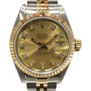 ROLEX Rolex Datejust Watch Wrist Automatic K18YG 750 Yellow Gold Stainless Steel SS 69173G