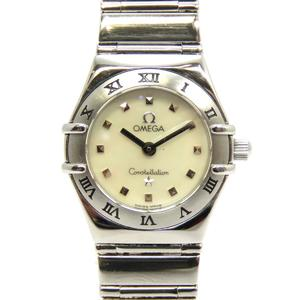 OMEGA Omega Constellation Mini My Choice Watch Wrist Ladies Quartz Stainless Steel SS