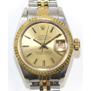 ROLEX Rolex Datejust E'91 Watch Ladies Automatic Stainless Steel SS K18YG 69173