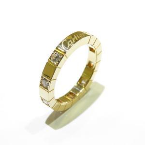 Cartier Laniere Half Diamond Ring K18YG 750 Yellow Gold # 49 No. 9