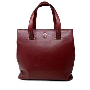 Cartier Shoulder Bag Tote Ladies Calf