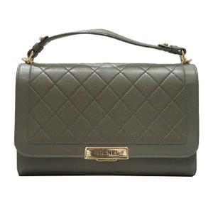 CHANEL Chain Shoulder Bag Leather