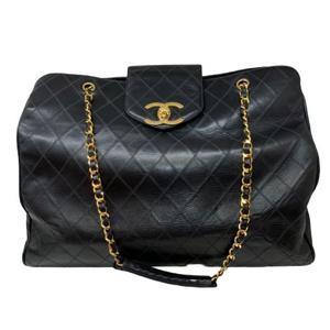 CHANEL Shoulder bag Super model Black calf