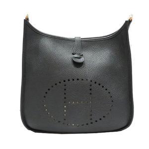 HERMES Hermes Evelyn 3PM Shoulder Bag Black Taurillon Clemence
