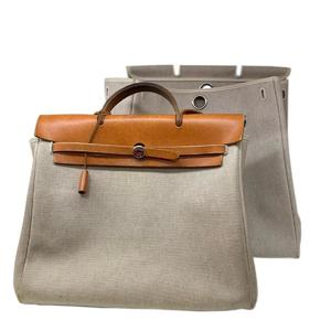 HERMES Hermes ale bag MM shoulder canvas leather D stamp