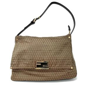 FENDI Fendi Mamma Bucket Shoulder Bag Ladies Light Nylon