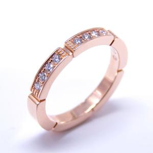 Cartier Maillon Panther Half D Ring K18PG 750 Pink Gold # 48 No. 8