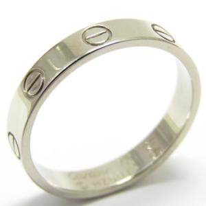 Cartier mini love ring K18WG 750 white gold # 55 14.5