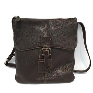 LOEWE shoulder bag ladies dark metal fittings silver calf