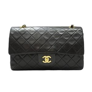 CHANEL Materasse W flap chain shoulder bag lambskin