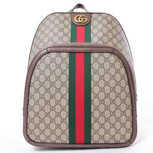 BR Rakuichi Main Store GUCCI Gucci GG Supreme Ophidia Backpack Leather