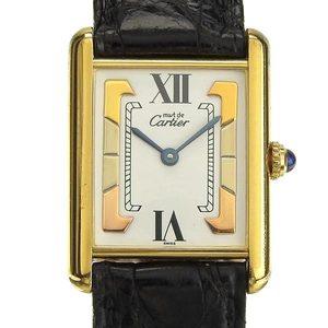 B Rakuichi Net Store CARTIER Cartier Must Tank Vermeil SV925 Ladies Quartz Wrist Watch