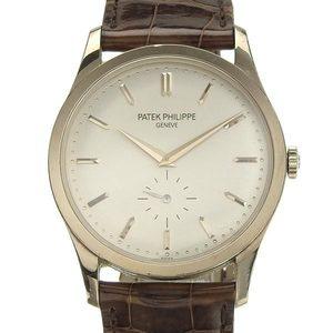 B Rakuichi net store PATEK PHILIPPE Patek Philippe K18WG Calatrava Mens Manual winding watch 5196