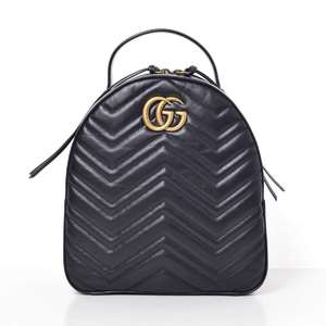 BR Rakuichi Main Store GUCCI Gucci GG Marmont Leather Backpack