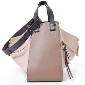 BR Rakuichi Main Store LOEWE Loewe Leather Hammock Medium Shoulder Bag Beige
