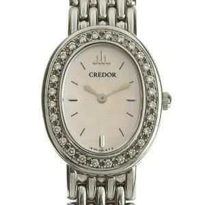 B Rakuichi Net Store SEIKO CREDOR SIGNO Ladies Quartz Wrist Watch Shell Dial 1E70-0AB0