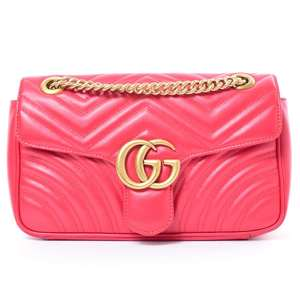BR Rakuichi Main Store GUCCI Gucci GG Marmont Leather Chain Shoulder Bag