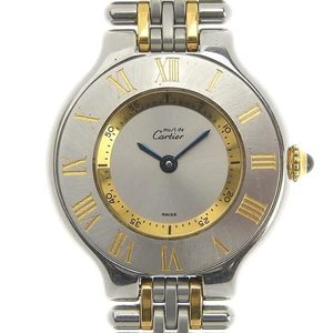 B Rakuichi Net Store Cartier Must 21 Ladies Quartz Wrist Watch 1340 Junk