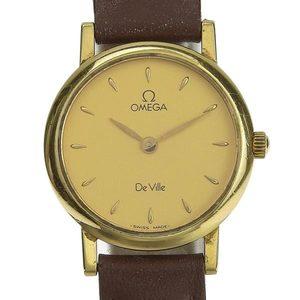 B Rakuichi Net Store OMEGA Omega K18YG Devil Ladies Quartz Wrist Watch 15.6g