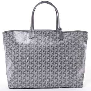BR Rakuichi Main Store GOYARD Goyal Saint Louis PM Tote Bag Gray Leather