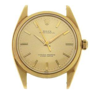 B Rakuichi Net Store ROLEX Rolex K18 Oyster Perpetual Men's Automatic Watch 6558