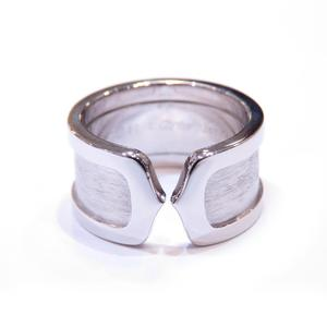 Cartier C2 Ring K18WG 750 White Gold # 50 9.5