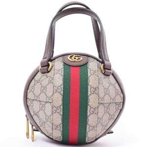 BR Rakuichi Main Store GUCCI Gucci GG Supreme Ophidia Round 2WAY Bag Leather