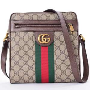 BR Rakuichi Main Store GUCCI Gucci GG Supreme Ophidia Shoulder Bag Leather