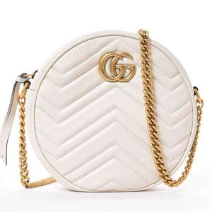 BR Rakuichi Main Store GUCCI Gucci GG Marmont Chain Shoulder Bag Leather