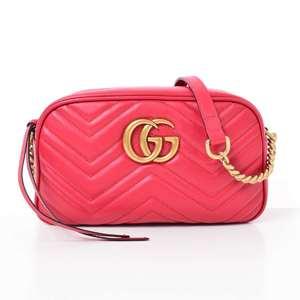 BR Rakuichi Main Store GUCCI Gucci Marmont Chain Shoulder Bag Leather