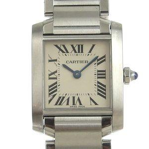 B Rakuichi Main Store Genuine Cartier Tank Francaise SM Ladies Quartz Wrist Watch W51008Q3