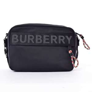 BR Rakuichi main store BURBERRY Burberry nylon shoulder bag leather