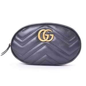 BR Rakuichi Main Store GUCCI Gucci Leather GG Marmont Waist Bag
