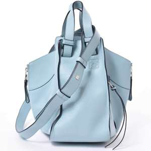 BR Rakuichi Main Store LOEWE Loewe Leather Hammock Small Shoulder Bag Ice Blue