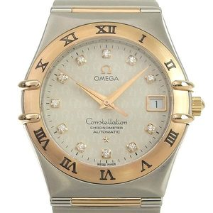 B Rakuichi Main Store Genuine OMEGA Omega Constellation Chrono Men's Automatic Watch 50th Anniversary 11P Diamond 1304.35
