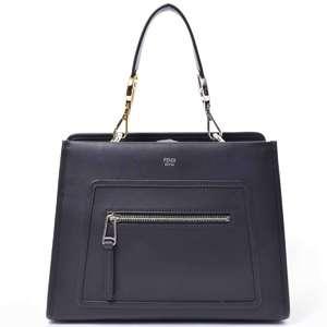 BR Rakuichi Main Store FENDI Fendi Calf Runaway 2 WAY Bag Handbag Leather