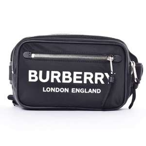 BR Rakuichi Main Store BURBERRY Burberry nylon logo waist bag leather
