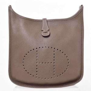 BR Rakuichi Main Store HERMES Hermes Taurillon Evelyn 3PM Etup Shoulder Bag Leather