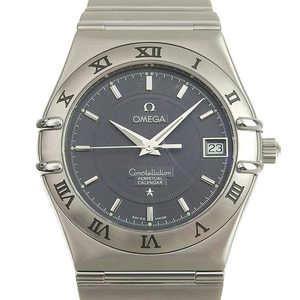 B Rakuichi Main Store Genuine OMEGA Omega Constellation Perpetual Calendar Men's Quartz Wrist Watch 1552.4