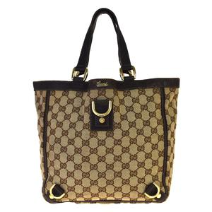 グッチ(Gucci) GGキャンバス 130739002404 レザー ハンドバッグ ブラウン