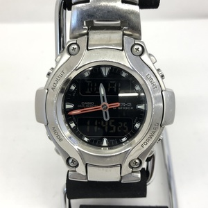 CASIO G-SHOCK MRG-130 MR-G Ana desi round face men quartz silver black