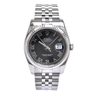 ROLEX Datejust K18WG Bezel Mens AT Automatic Watch 116234