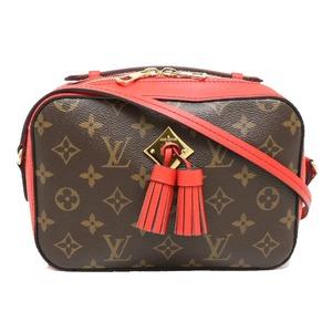 LOUIS VUITTON Louis Vuitton Monogram Santonge Shoulder Bag Leather Coquelico Red M43556
