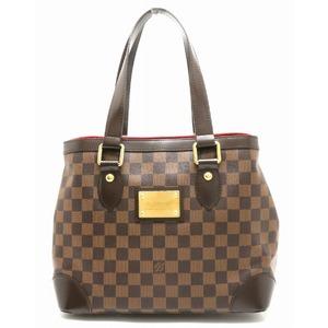 LOUIS VUITTON Louis Vuitton Damier Hampstead PM Handbag Tote Bag Shoulder Gold Hardware N51205