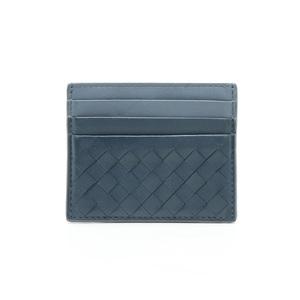 Bottega Veneta Intrecciato Card Case Leather Gray 548510