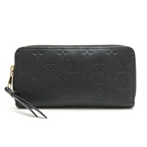 LOUIS VUITTON Louis Vuitton Monogram Anplant Zippy Wallet Round Zip Long Leather Noir M61864
